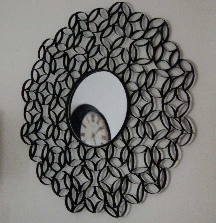 DIY cardboard tube mirror