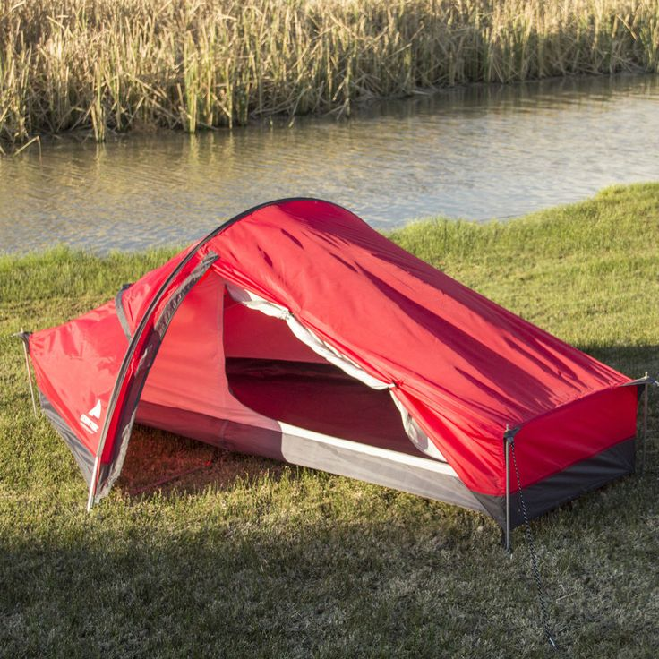 Ozark Trail One Man Tent Extra Long Backpacking Hiking Waterproof Camping Red #OzarkTrail