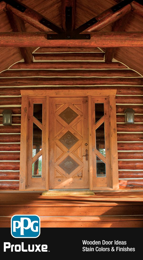 Wooden Door Entryways   Make your grand entrance unique by using complementing stain colors on your & 10 best Exterior \u0026 Interior Wood Stain Inspiration by PPG ProLuxe ...