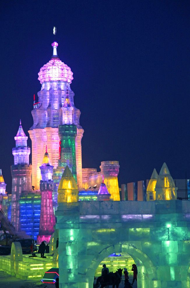 Ice palace in Harbin, China