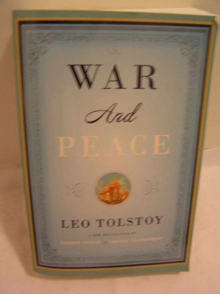 War And Peace Leo Tolstoy New Translation Richard Pevear Borzoi Book 2007 #BrandVintage