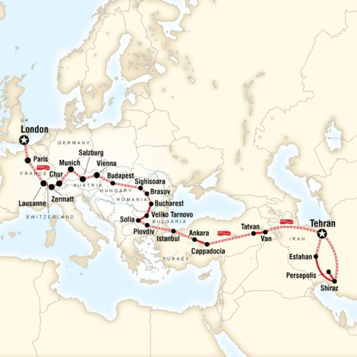5 Incredible G Adventures Tours · Kenton de Jong Travel -Map of London to Tehran by Rail – London to Tehran http://kentondejong.com/blog/5-incredible-g-adventure-tours