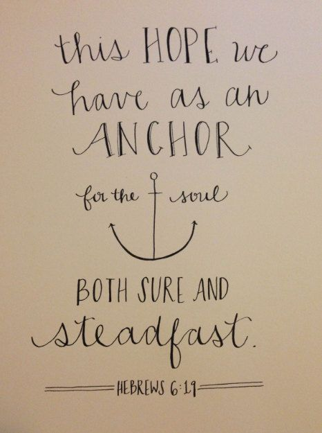 Hebrews 6:19 Only Jesus can satisfy your soul.