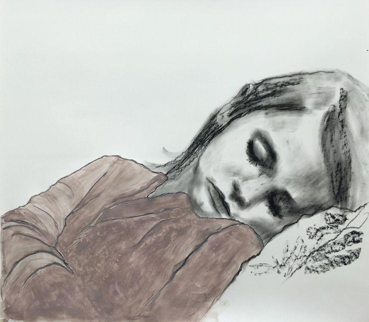 Untitled, charcoal and acrylic on paper, 100x100 cm. Vastiane Tamayo.