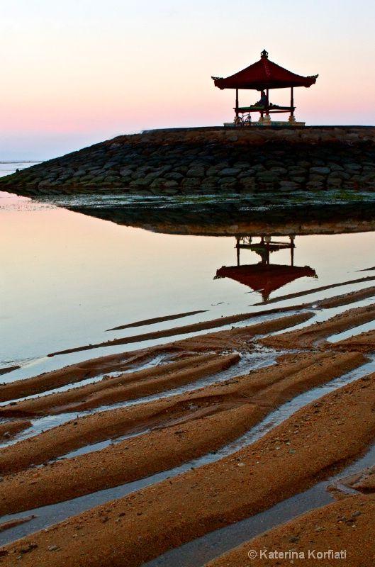 Sunrise at Sanur beach, Bali