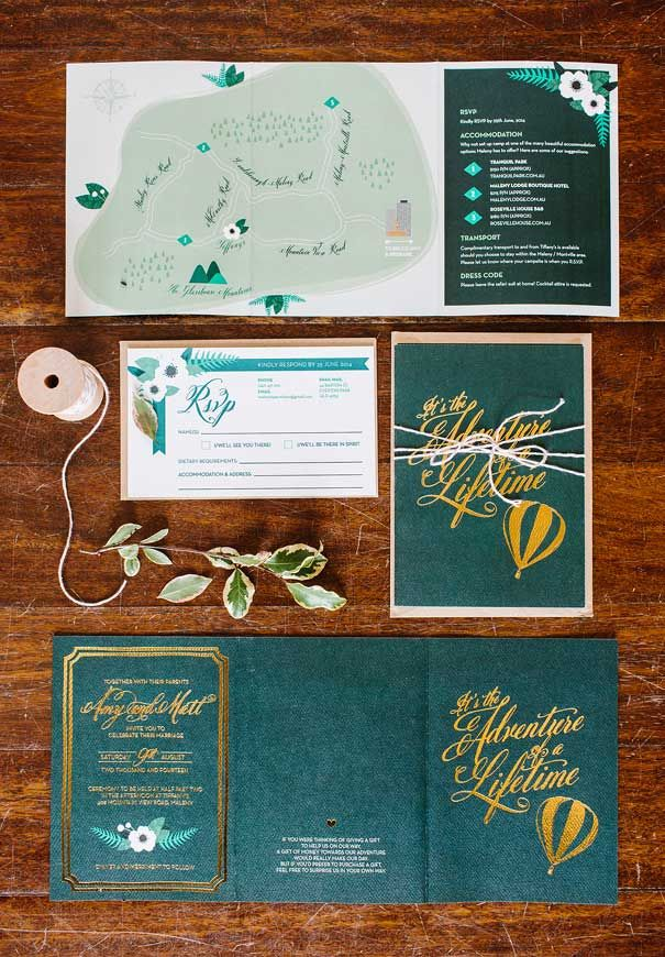 wedding invitation mint green%0A Gold foil and hunter green wedding invitations  u     event stationery