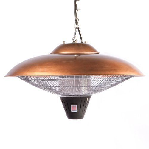 Firesense Hanging Halogen Patio Heater, Finish: copper by Fire Sense. $110.00. Standard 110-volt household current. No harmful emissions or toxic residuals. No uv rays, silent operation. About 1/10 the energy costs of lpg heaters. 8-foot non-retractable electrical cord. Our Hanging Copper Finish Halogen Patio Heater introduces a new revolution in outdoor heating. This halogen patio heater runs on regular household electric current and is substantially less expensi...