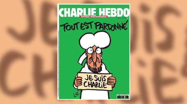 Große Geste und großes Cover der Satire-Zeitschrift: Am Mittwoch erscheint die erste Ausgabe von Charlie Hebdo nach dem schrecklichen Anschlag auf die Redaktion. Natürlich liefern die Satiriker auf ihrer Titelseite ihr Statement zu dem Attentat, das zehn ihrer Kollegen das Leben kostete. Ihre Nachricht an die Terroristen ist: Vergebung. Verpackt wird diese große Geste in eine traurig-komische Mohammed-Karikatur.