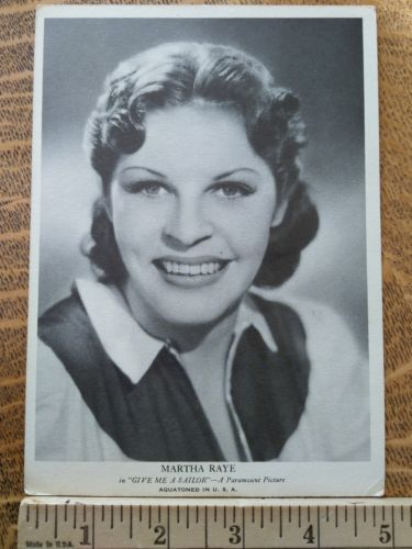 movie star photos vintage 1930s Hollywood publicity photo Martha Raye