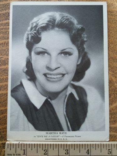 movie star photos vintage 1930s Hollywood publicity photo Martha Raye