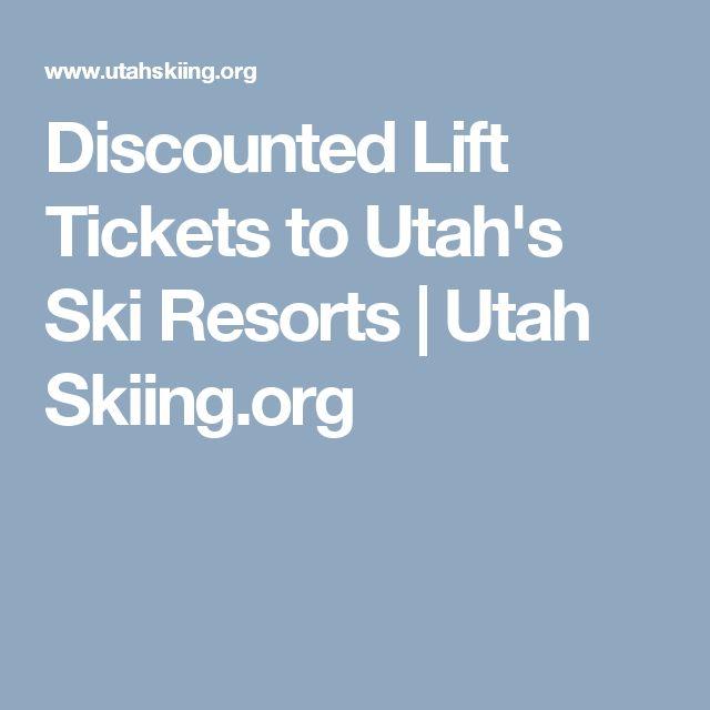 Discounted Lift Tickets to Utah's Ski Resorts   Utah Skiing.org