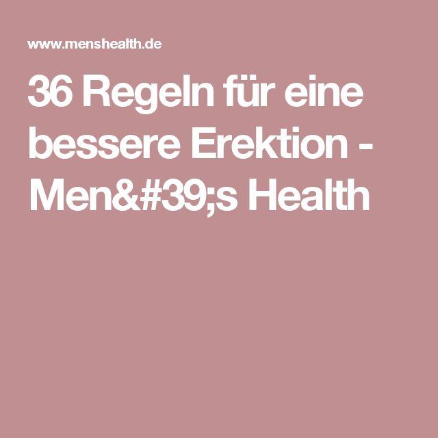 36 Regeln für eine bessere Erektion - Men's Health