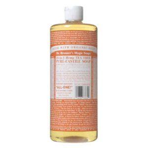 Dr. Bronners Magic Soaps Pure-Castile Soap, 18-in-1 Hemp Tea Tree, 32-Ounce