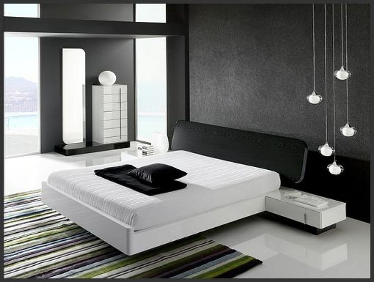 Modern Black And White Bedroom interior minimalist black and white bedroom interior design