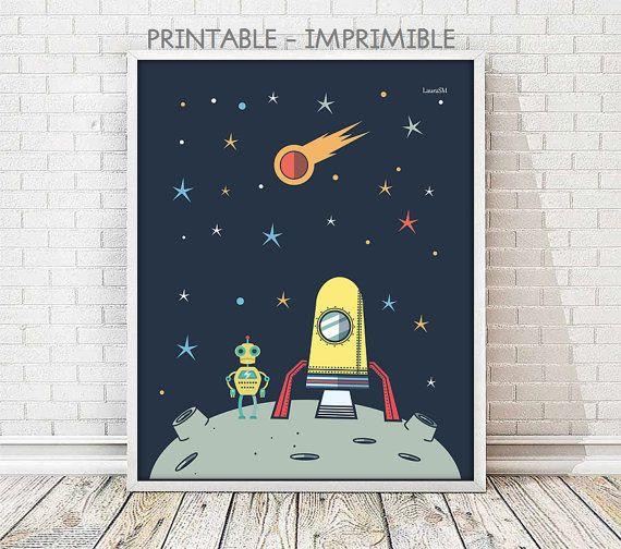 laminas infantiles, lamina robot, laminas espacio, cuadro robot, cuadro espacio, espacio exterior, cuadros infantiles, lamina espacial