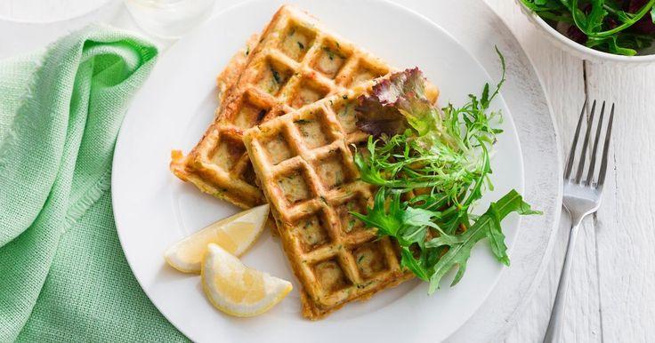 Transform your favourite zucchini slice into beautiful green crunchy waffles.