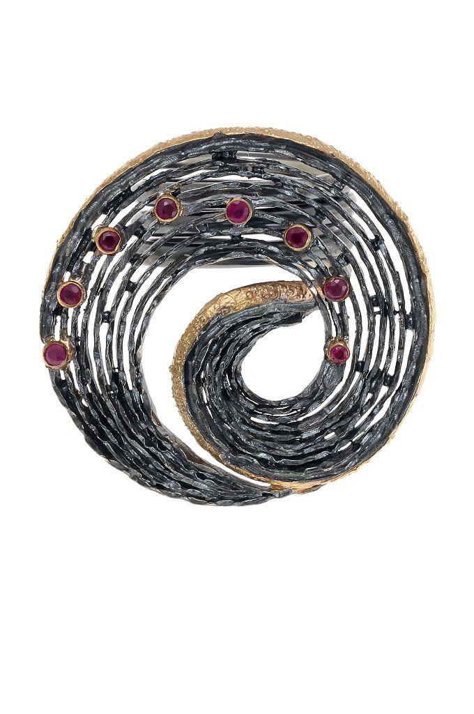 Γυναικείο δαχτυλίδι, χειροποίητο,ασημένιο925'εμπνευσμένο από την φύσησε σχήμα πολλαπλής σπείραςεπενδεδυμένο με χρυσό 18 καρατίων #δαχτυλίδια #χειροποίητα_κοσμήματα #αρχαϊκά_κοσμήματα #κοσμήματα_χαλάνδρι