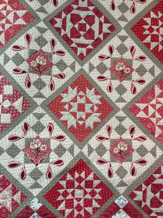 SALE 20% OFF French General Chateau Rouge Day by SunValleyFabric