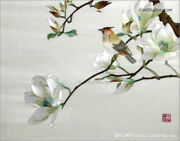 ~~ Четырех известных вышивка вышивка Гуандун _ _ Китайская традиционная культура и сообщество перед правительством