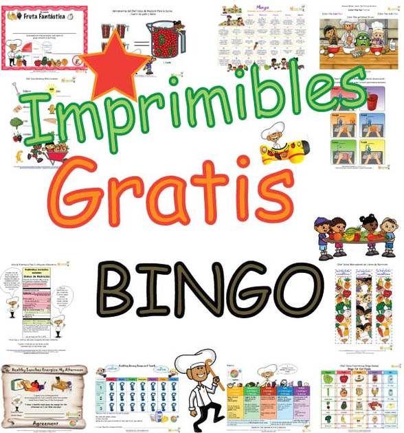 Juego de Bingo de Los Grupos Alimenticios - Actividad Para Niños