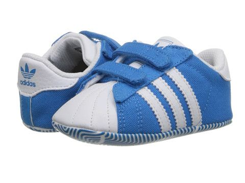 Adidas Originals Superstar 2 crib Athletic Shoes Children Solar Blue / White