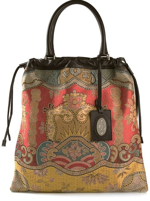 Etro embroidered tote bag in Yusty