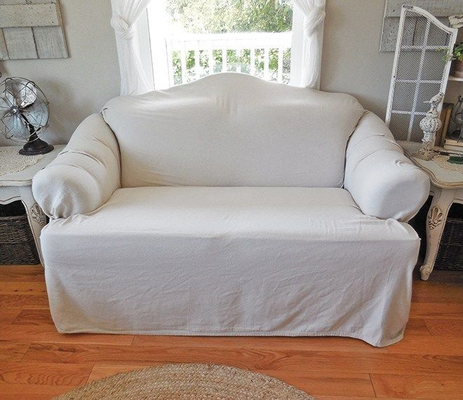 How To Use Canvas Drop Cloths As Slip Covers No Sewing Required Slipcovers For Chairs Diy Sofa Cover Canvas Drop Cloths