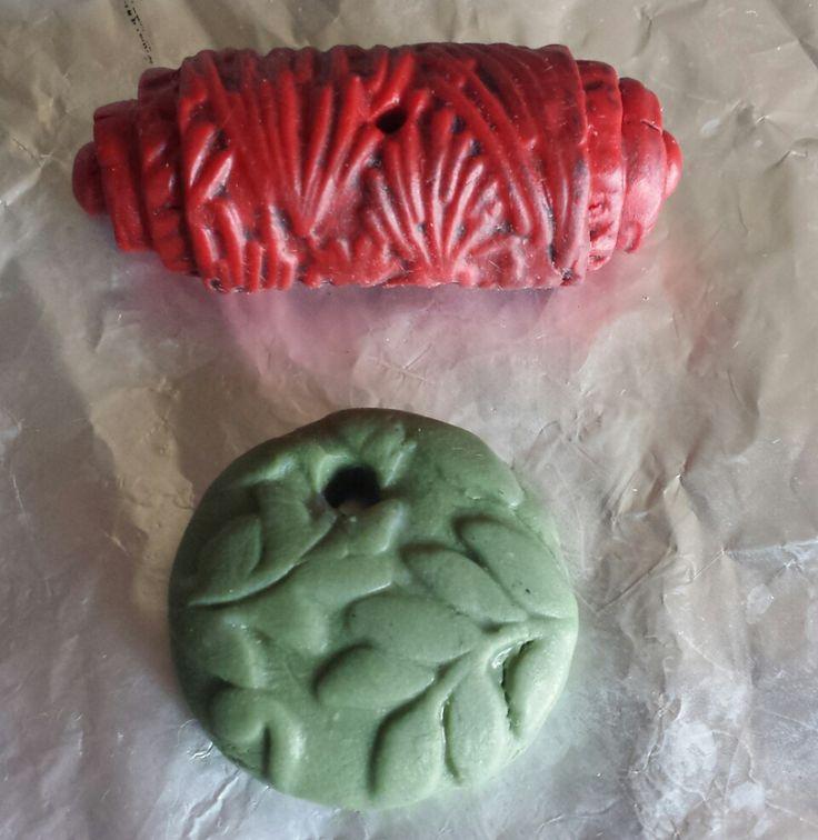 Faxu cinnabar and faux jade