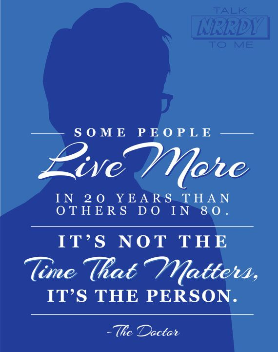 Tenth Doctor Quote 1 by TalkNrrdyToMe on Etsy LOTS more Doctor Who and Pop culture quotes! #DoctorWho #Quotes