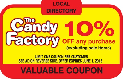 The Candy Factory. 10% OFF