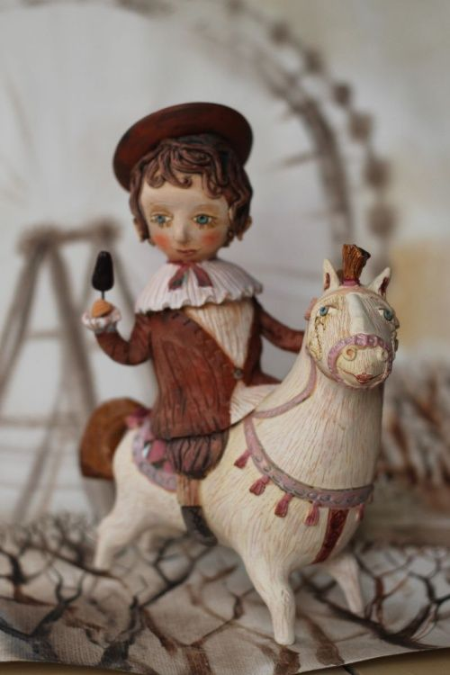My project is about innocence and joy of the children who were waiting the whole year for the christmas market.   I have created two sets. One was  with engobes only and one with a bit of glazes....