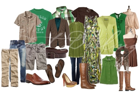 what to wear- greens and neutrals