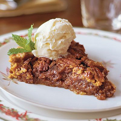 Pecan Pie     A refrigerated pie crust keeps the prep time for Pecan Pie under 5 minutes. Pair with homemade vanilla ice cream for an ultimate treat.