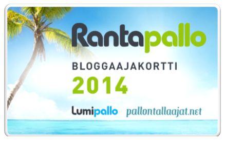 Tulossa pian: Rantapallon bloggaajakortti! http://www.rantapallo.fi/bloggaajakortti/