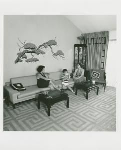 Violet Falcone, daughter & grandson. 365 Mayfair Dr. South, Marine Basin, Brooklyn. August 24, 1978.