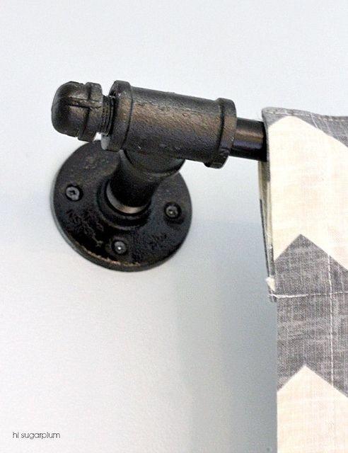 Hi Sugarplum | Galvanized Pipe Curtain Rod by hi sugarplum!, via Flickr
