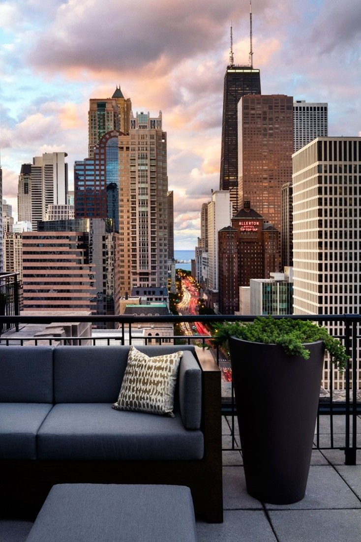 The Grand Terrace Suite has Pratesi linens, Molton Brown amenities and Lake Michigan views. #Jetsetter The Gwen Hotel (Chicago, Illinois)