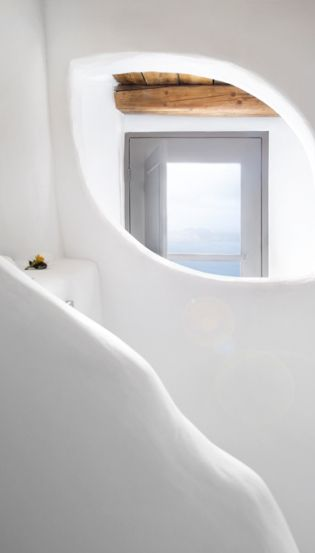 pinned by barefootstyling.com  Sophia Luxury Suites Santorini. TravelPlusStyle.com