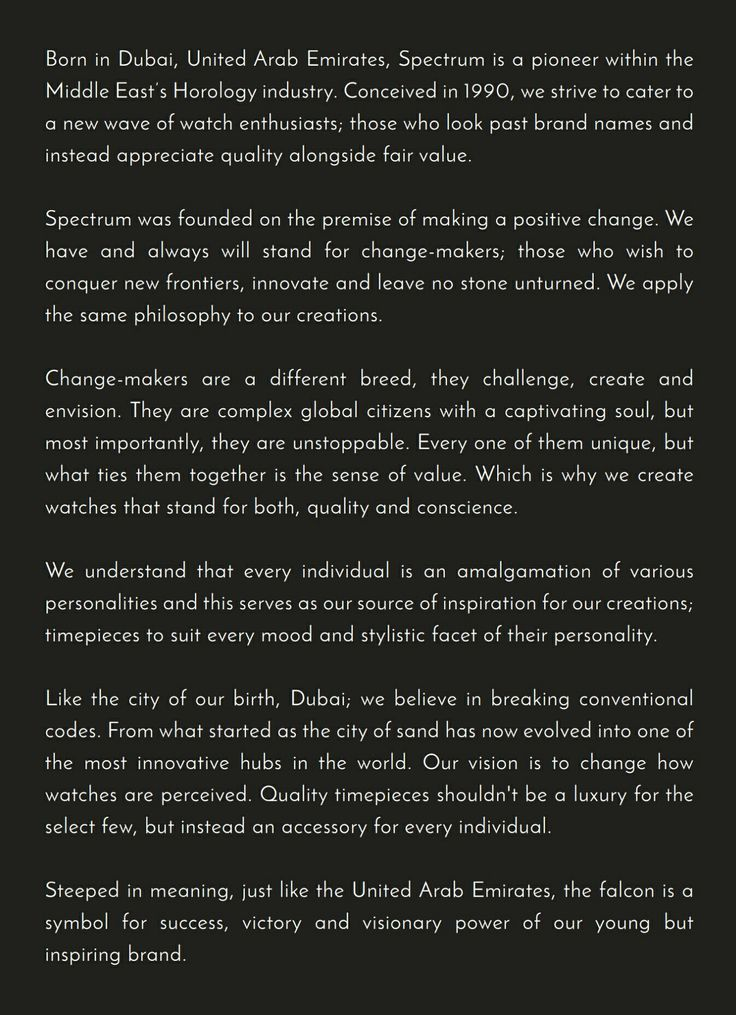 Our promise to you changemakers Spectrum, Brand names