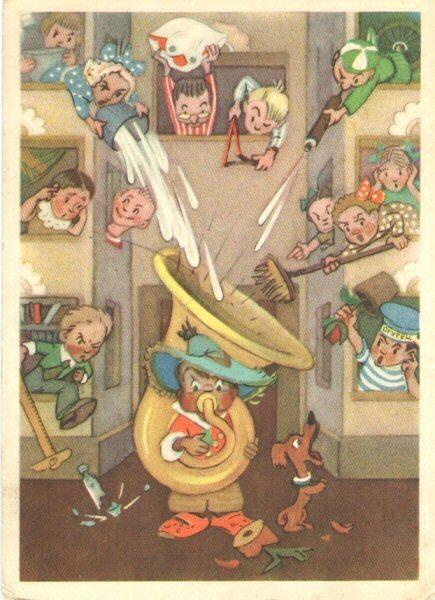 """Худ. Л.В. Владимирский. Незнайка """"Музыкант"""". 1957 г. Тир. 500 тыс. Чистая. Категория NM. https://vk.com/photo-75758060_340252022"""