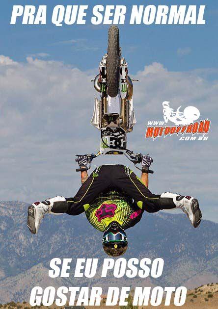 Pra que ser normal se eu posso gostar de moto ? #freestyle #motocross #crazy #louco #mx