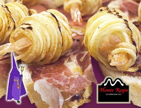 Rollitos de gambas y jamón ibérico #MonteRegio ¡No te quedes sin probarlo!