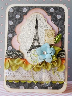 designed by Michele Kovack using Bon Voyage: Paris Cards, Cards Ideas, Beautiful Cards, Crafts Cards, Parisians Cards, Have A Nice Trip, Greeting Cards, Paris Stamps, Cardmaking Scrapbook