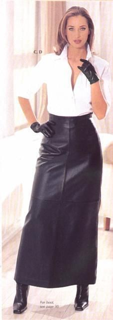 long leather skirt - Girls - Pinterest - Long leather skirt ...
