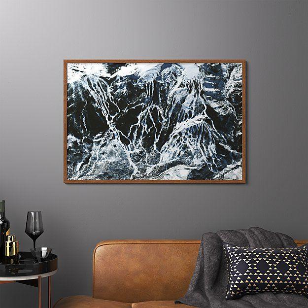 Aspen Snowmass With Dark Wood Frame No Mat 40 5 X27 5 Dark Wood Frames Aspen Snowmass Snowmass