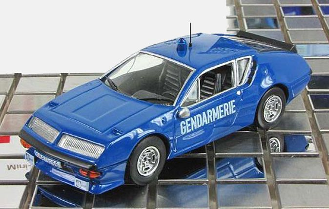 Alpine Renault A310 DeAgostini 1:43 French police mod & mag 11 World Police