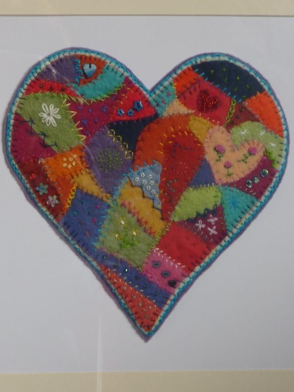Crazy Patchwork Heart -=- Art is Always an Expression of the Colors in Our True Center
