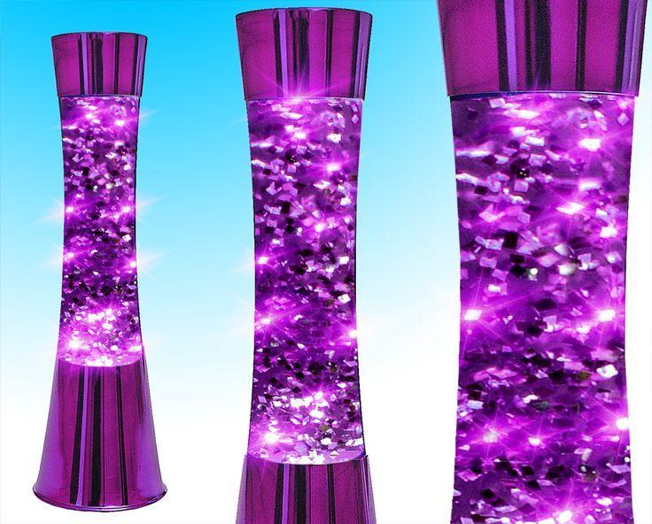 Purple Lava Lamp   Funky Retro Concave Purple Glitter Lava Lamp