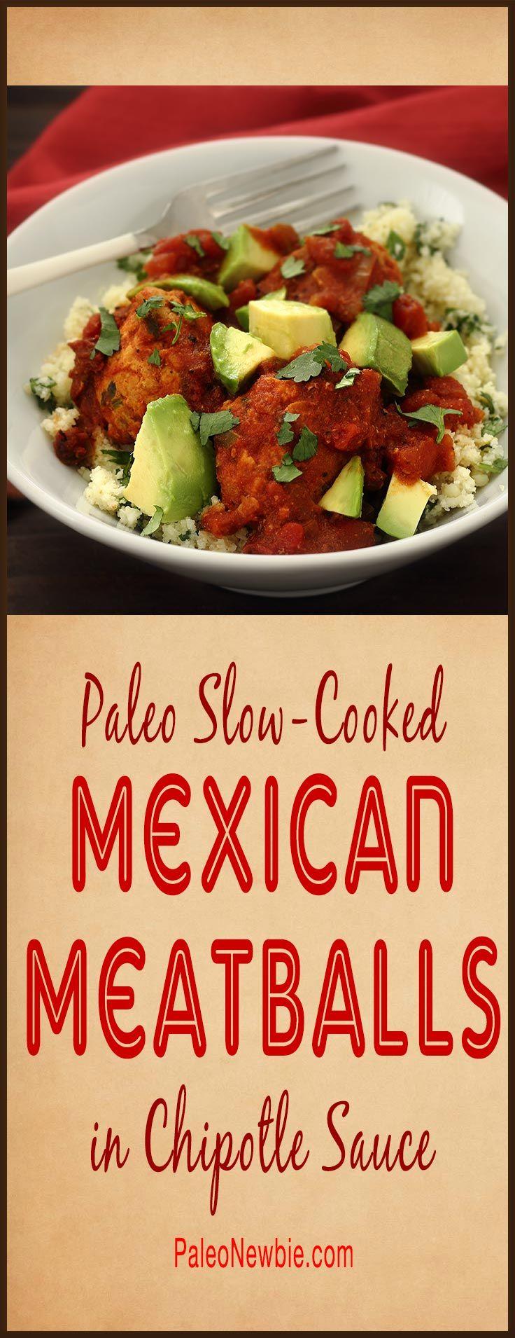 Mexican Pork Meatballs In Tomato-Chipotle Chile Sauce Recipe ...