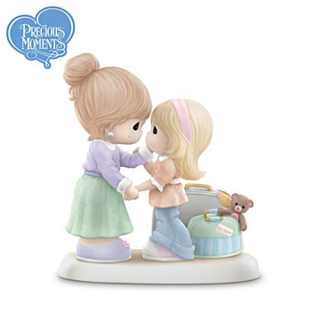 A mother and daughter tearfully say their goodbyes, as the daughter prepares to leave home for the first time - this tender and bittersweet moment is now captured forever in a limited-edition Precious Moments® mother and daughter figurine.  I earned Bradford Exchange merchandise by posting this board, and you can too! http://on.fb.me/MDayMustHave #MothersDayGiftIdeas